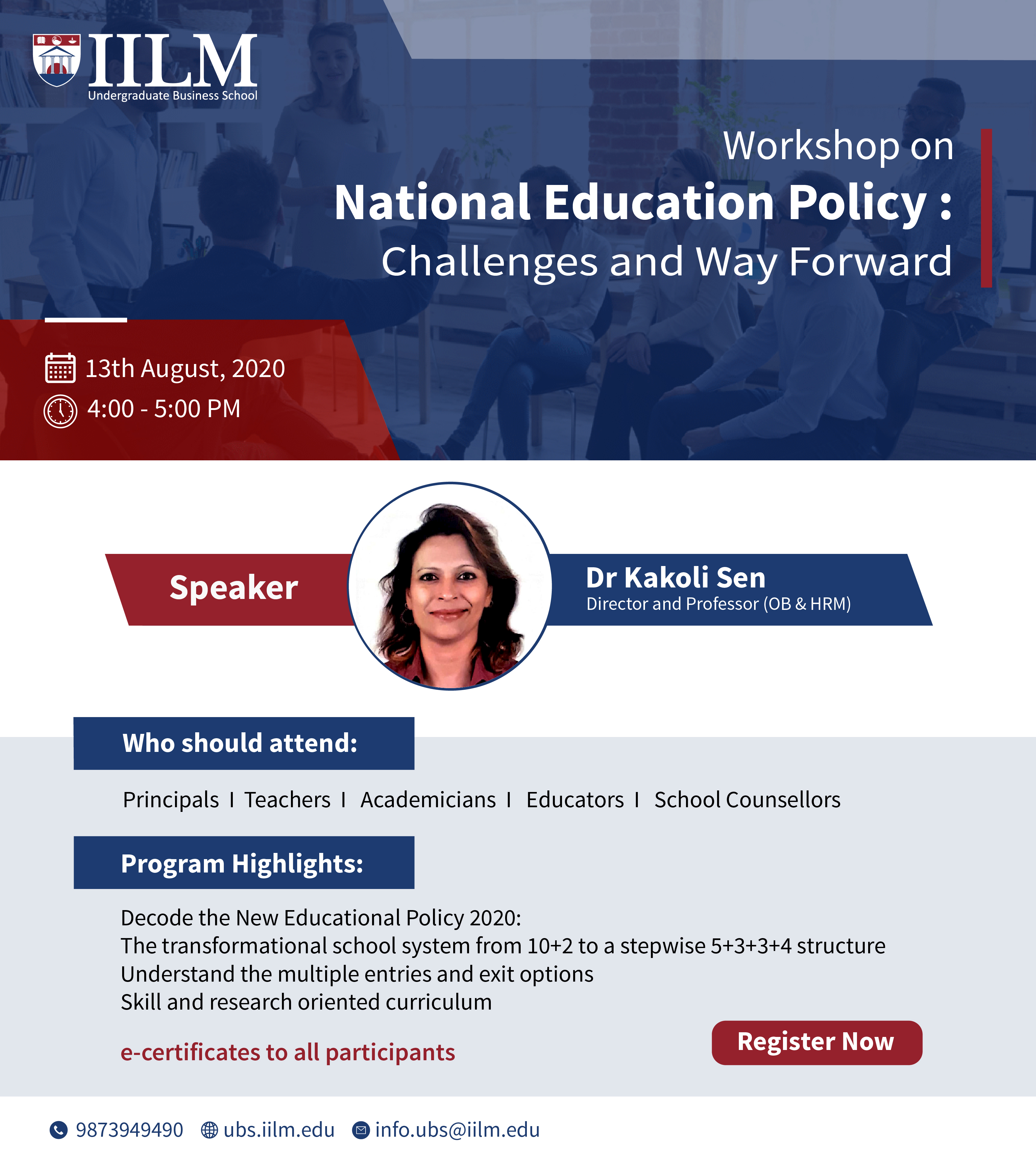 Workshop on National Education Policy: Challenges and Way Forward