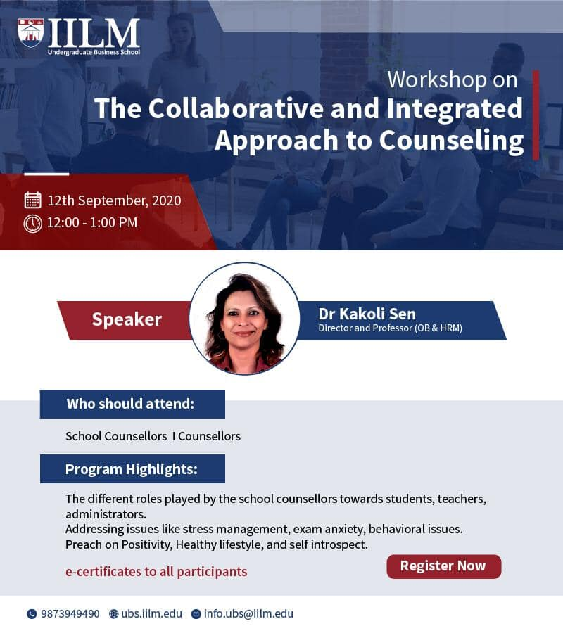 Workshop on The Collaborative and Integrated Approach to Counseling